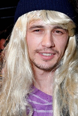 James Franco in a wig